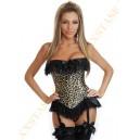Корсет леопардовый с пажами