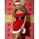Новогоднее платье c имитацией корсета