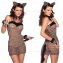 Платье Тигрицы с ушками и хвостиком