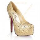 Золотистые туфли с кристаллами GOLDEN