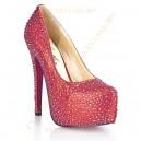 Красные туфли в кристаллах PROVACATIVE